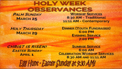 Holy Week Observances