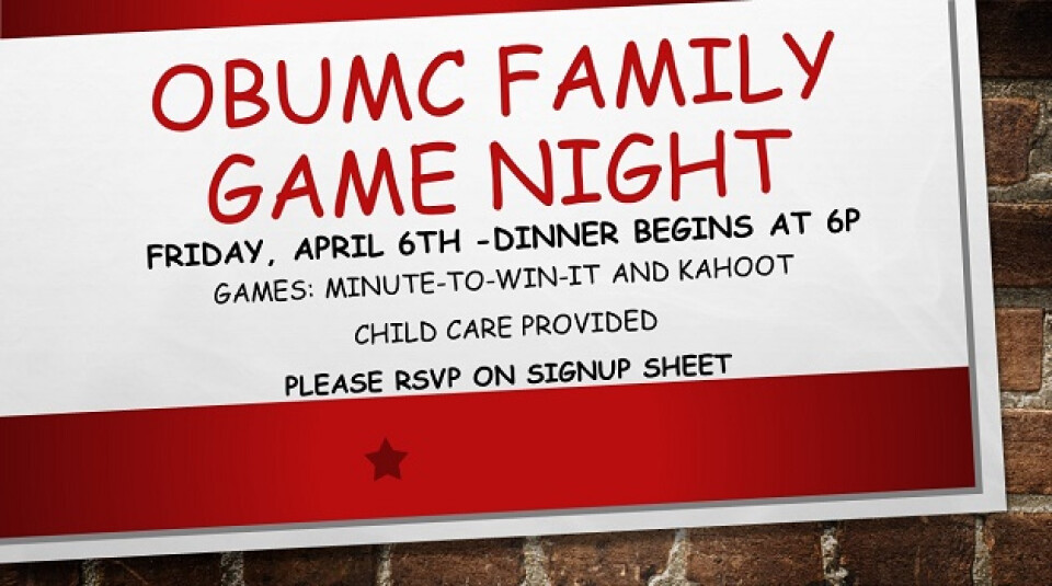 OBUMC Family Fun Night